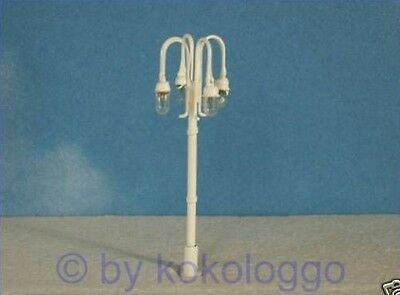 W28 - 5 Pieces Streetlights Candelabra 4 lamps 5,5cm for Market place and Park