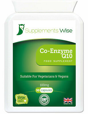 Co-Enzyme Q10 CoQ10 100mg 90 Capsules HIGH STRENGTH Energy Heart Supplement