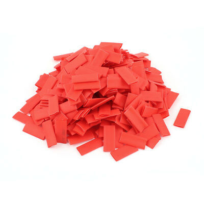 400Pcs Polyolefin 2:1 Heat Shrink Tubing Sleeving Wrap Wire 8x30mm Red