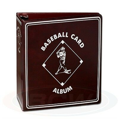Baseball Trading Card Collectors Album with Page sleeves, 2inch Spine