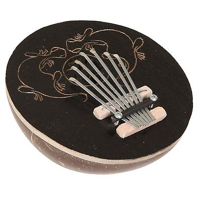 X8 Drums X8-CT-KLB-DK Coconut Kalimba Thumb Piano, Gecko Carving