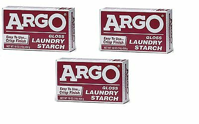Argo Laundry Starch 3 boxes 1lb Each Play Clay & Multi Purpose