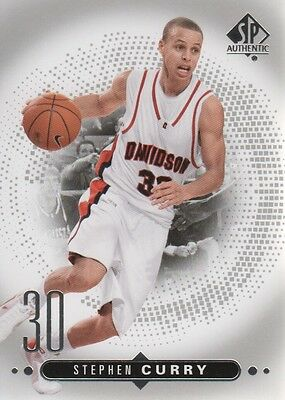 2014-15 SP Authentic Basketball #45 Stephen Curry Davidson Wildcats