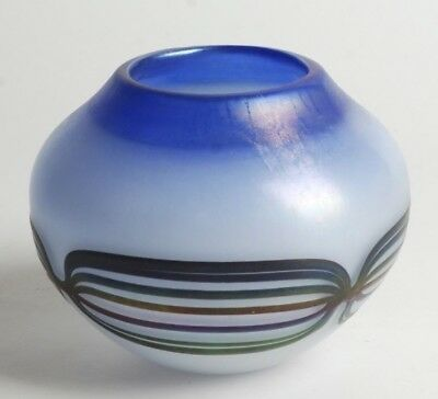 Vintage Studio Made Art Glass Vase Signed