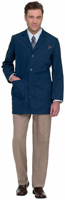 Landau Mens Tailored Style Long Sleeve Four Button Closure Lab Coat. 3163