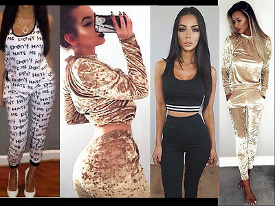 Womens Co-ord Stretch Army Camouflage Print Jogging Set Ladies Tracksuit Pants