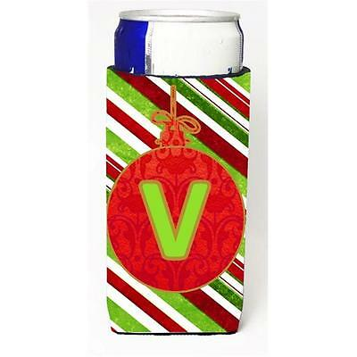 Christmas Ornament Holiday Monogram Initial Letter V Michelob Ultra s For Sli...