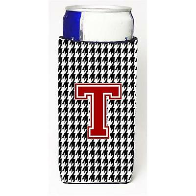 Carolines Treasures Houndstooth Letter T Michelob Ultra s For Slim Cans • AUD 47.47