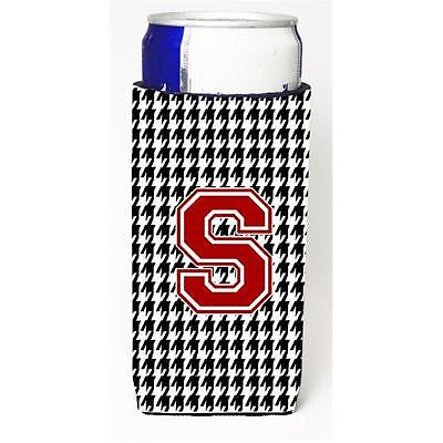 Carolines Treasures Houndstooth Monogram Letter S Michelob Ultra s For Slim Cans