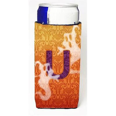 Halloween Ghosts Monogram Initial Letter U Michelob Ultra s For Slim Cans