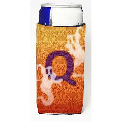 Halloween Ghosts Monogram Initial Letter Q Michelob Ultra s For Slim Cans