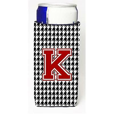 Carolines Treasures Monogram Houndstooth Letter K Michelob Ultra s For Slim Cans