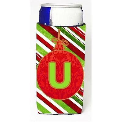 Christmas Ornament Holiday Monogram Initial Letter U Michelob Ultra s For Sli...