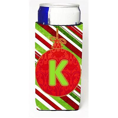 Christmas Ornament Holiday Monogram Initial Letter K Michelob Ultra s For Sli...