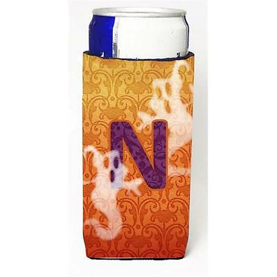 Halloween Ghosts Monogram Initial Letter N Michelob Ultra s For Slim Cans