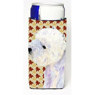 Carolines Treasures Westie Fall Leaves Portrait Michelob Ultra s for slim cans