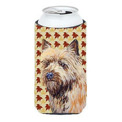 Carolines Treasures LH9095TBC Cairn Terrier Fall Leaves Portrait Tall Boy Hugger