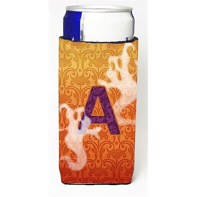 Halloween Ghosts Monogram Initial Letter A Michelob Ultra s For Slim Cans