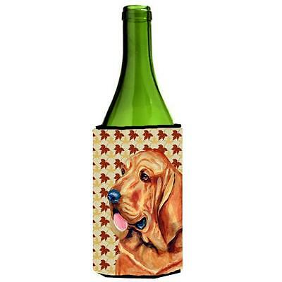 Carolines Treasures Bloodhound Fall Leaves Portrait Wine Bottle Hugger 24 oz.