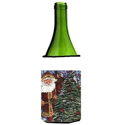 Carolines Treasures Santa Claus On The Rooftop Wine Bottle Hugger 24 oz.