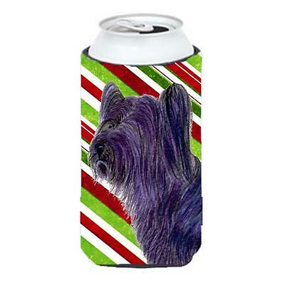Carolines Treasures Skye Terrier Candy Cane Holiday Christmas Tall Boy Hugger