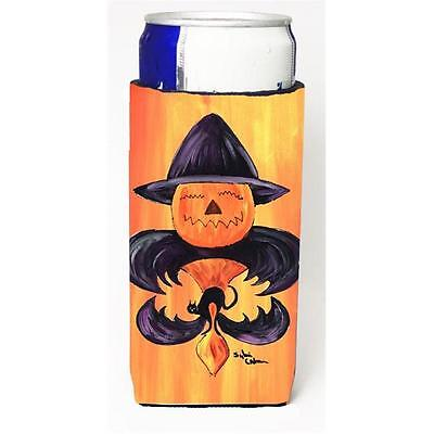 Halloween Pumpkin And Bat Fleur De Lis Michelob Ultra s For Slim Cans 12 oz.