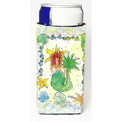 Carolines Treasures Red Headed Funky Mermaid Michelob Ultra s for slim cans