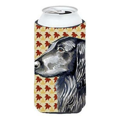 Carolines Treasures Flat Coated Retriever Fall Leaves Portrait Tall Boy Hugger