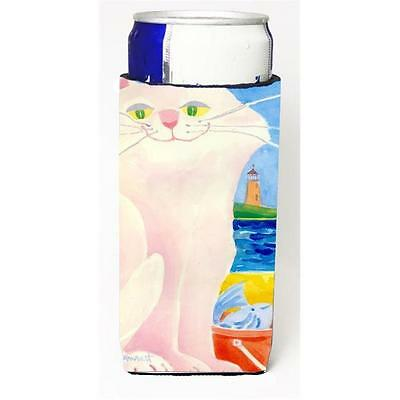 Big White Cat At The Beach Michelob Ultra s For Slim Cans 12 oz.