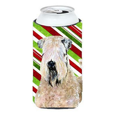 Wheaten Terrier Soft Coated Holiday Christmas Tall Boy Hugger 22 To 24 oz.