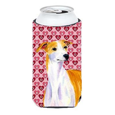 Whippet Hearts Love And Valentines Day Portrait Tall Boy Hugger 22 To 24 oz.