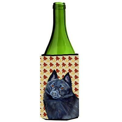 Carolines Treasures Schipperke Fall Leaves Portrait Wine Bottle Hugger 24 oz.