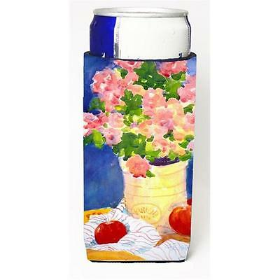 Carolines Treasures Pink Bouquet of Flowers Michelob Ultra s for slim cans