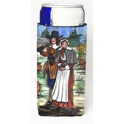 Carolines Treasures Pilgrims Thanksgiving Michelob Ultra s For Slim Cans 12 oz.