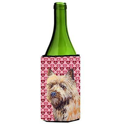 Cairn Terrier Hearts Love Valentines Day Portrait Wine Bottle Hugger 24 oz.