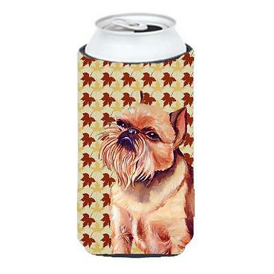 Carolines Treasures Brussels Griffon Fall Leaves Portrait Tall Boy Hugger • AUD 47.47