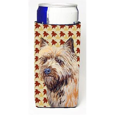 Cairn Terrier Fall Leaves Portrait Michelob Ultra s for slim cans