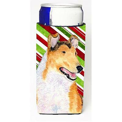 Collie Smooth Candy Cane Holiday Christmas Michelob Ultra s For Slim Cans 12 oz.