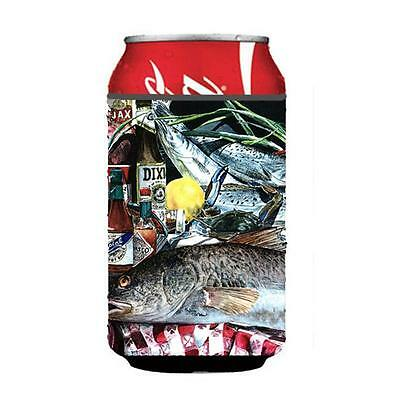 Carolines Treasures 1001CC Fish and Beers from New Orleans Can or Bottle Hugger