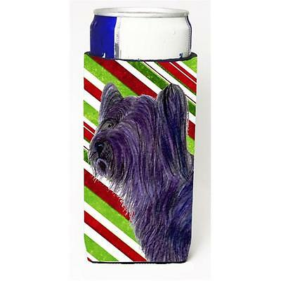Skye Terrier Candy Cane Holiday Christmas Michelob Ultra s for slim cans
