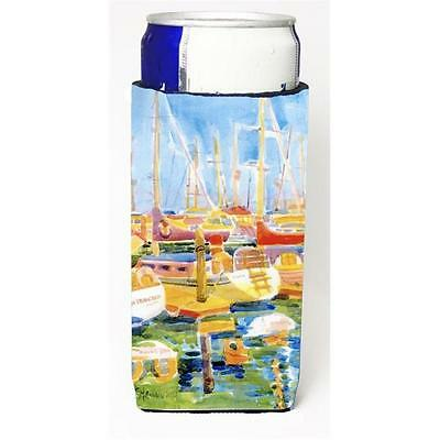 Carolines Treasures Boats At The Harbour Michelob Ultra s For Slim Cans 12 oz.