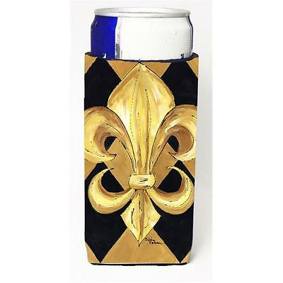 Black and Gold Fleur de lis New Orleans Michelob Ultra s for slim cans