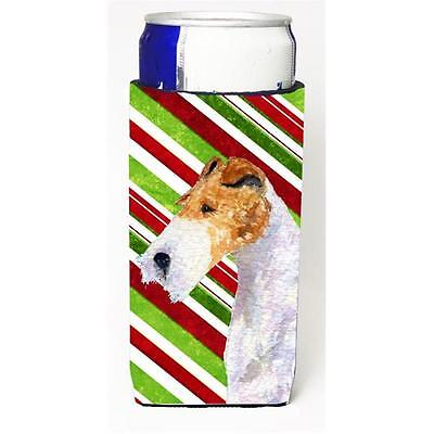 Fox Terrier Candy Cane Holiday Christmas Michelob Ultra s For Slim Cans 12 oz.
