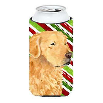 Golden Retriever Candy Cane Holiday Christmas Tall Boy Hugger 22 To 24 oz.