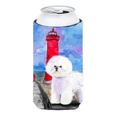 Carolines Treasures SS8891TBC Lighthouse with Bichon Frise Tall Boy Hugger