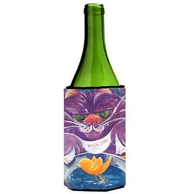 Carolines Treasures 6004LITERK Purple Cat Birdie Dear Wine Bottle Hugger