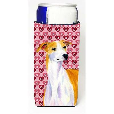 Whippet Hearts Love And Valentines Day Portrait Michelob Ultra s For Slim Can...