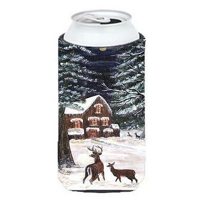 Carolines Treasures Winter Scene With Deer Tall Boy Hugger 22 To 24 oz.