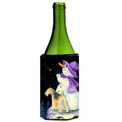 Carolines Treasures Snowman With Lakeland Terrier Wine Bottle Hugger 24 oz.