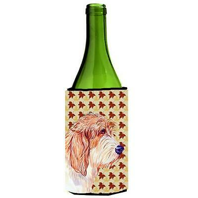 Petit Basset Griffon Vendeen Fall Leaves Portrait Wine Bottle Hugger 24 oz.